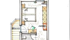 Triple room, bath, toilet, balcony