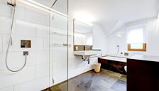 Holiday home, shower and bath tub