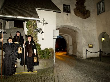 Night watchmen tour through Bludenz