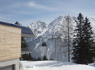 Lifts and Ski Pistes in the Brandnertal Ski Area