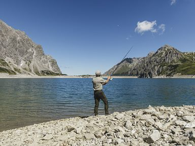 Fishing in the Alps of Vorarlberg