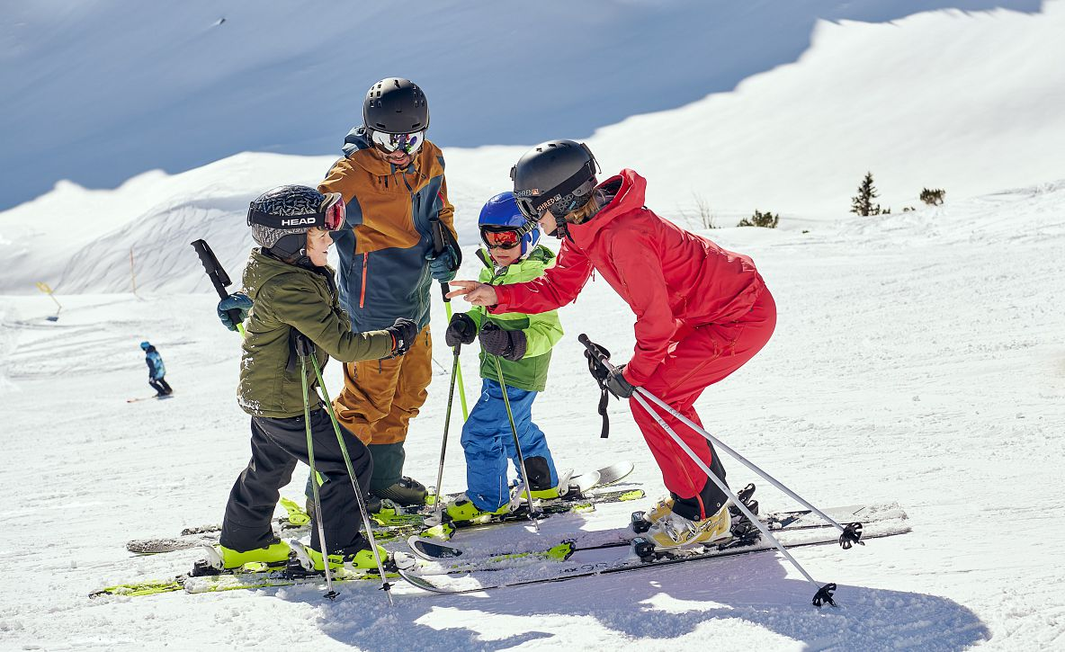 Thanks to the Ski Instructor or Together on a Family Holiday