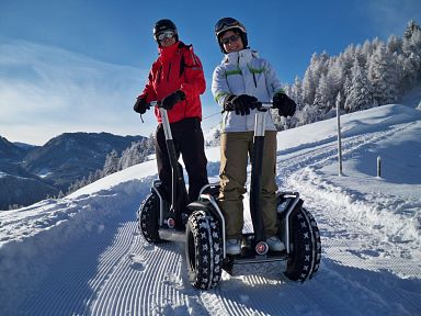Enjoy Segway in winter on snow