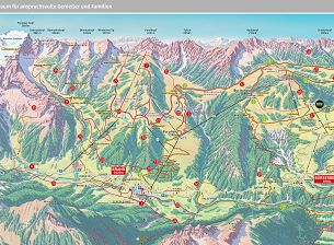Summer trail maps of the hiking area