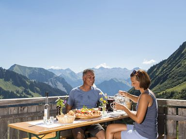 Gastronomy on the mountain Grosses Walsertal